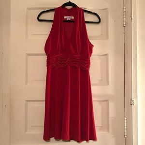 Evan Picone Red Party Dress